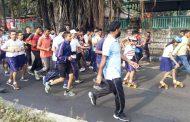 विद्यार्थ्यांच्या सहभागाने राष्ट्रीय एकता दौडमध्ये मोठा उत्साह