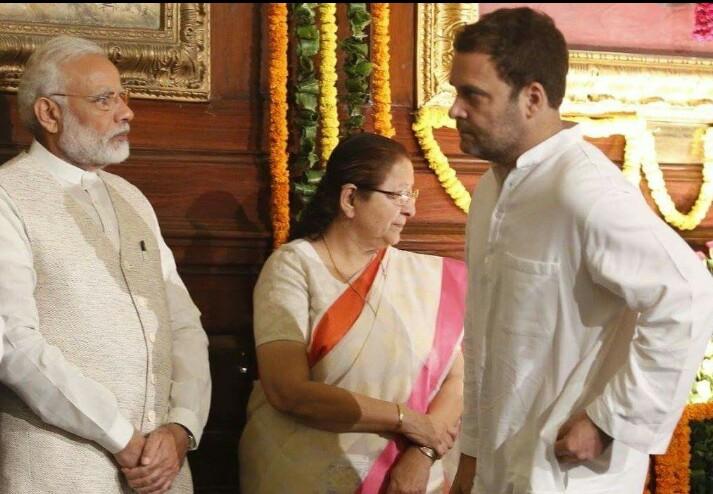 संसदेचा सेंट्रल हॉल… मोदी-राहुल समोरासमोर आणि ती भेदक नजर!