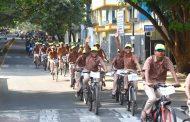 किर्लोस्कर वसुंधरा आंतरराष्ट्रीय चित्रपट महोत्सवांतर्गत नदी वाचवा-जीवन वाचवा संदेश देण्यासाठी सायकल रॅली