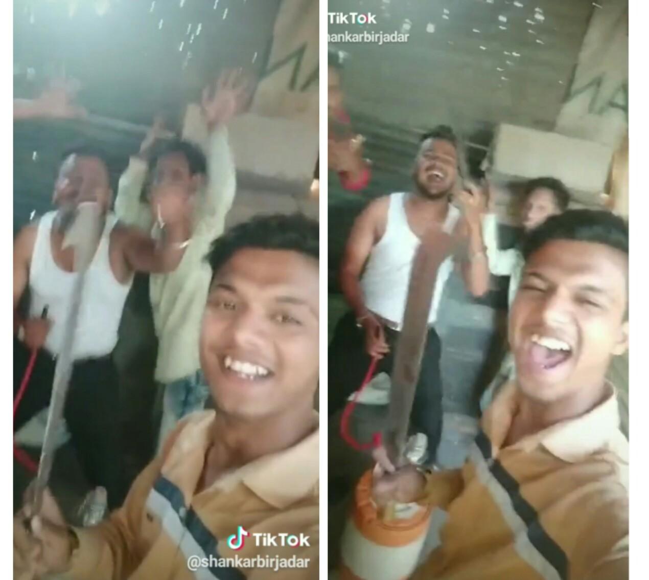 हातात कोयता घेऊन संजूबाबाच्या 'त्या' डायलॉगवर 'टिक-टॉक' व्हिडीओ करणाऱ्या पिंपळे निलखमधील तरूणांना अटक