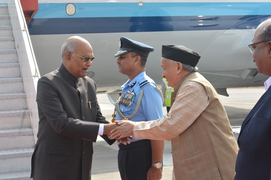 राष्ट्रपती रामनाथ कोविंद यांचे पुण्यात स्वागत