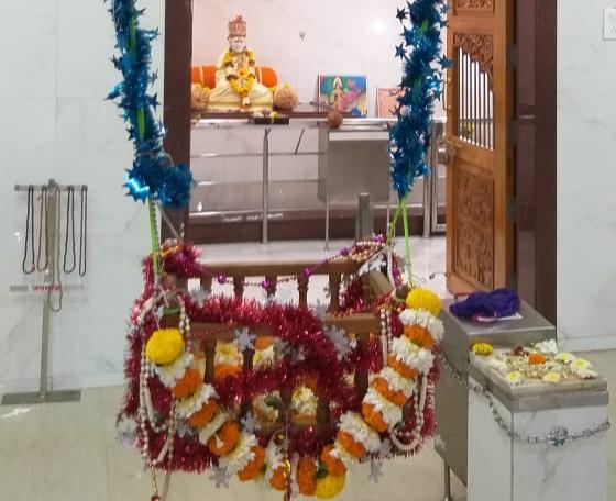 चिंचवडमधील श्री स्वामी समर्थ मंदिरात साध्या पद्धतीने श्रीकृष्ण जन्माष्टमी साजरी