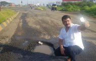 बांधकाममंत्री चंद्रकांत पाटील यांनी मुंबई-बेंगलोर महामार्गावरील खड्ड्यांचा दिवसा पाहणी दौरा करावा - नाना काटे