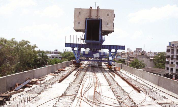 पुणे मेट्रो चा पहिला रूळ पिंपरी चिंचवडमध्ये